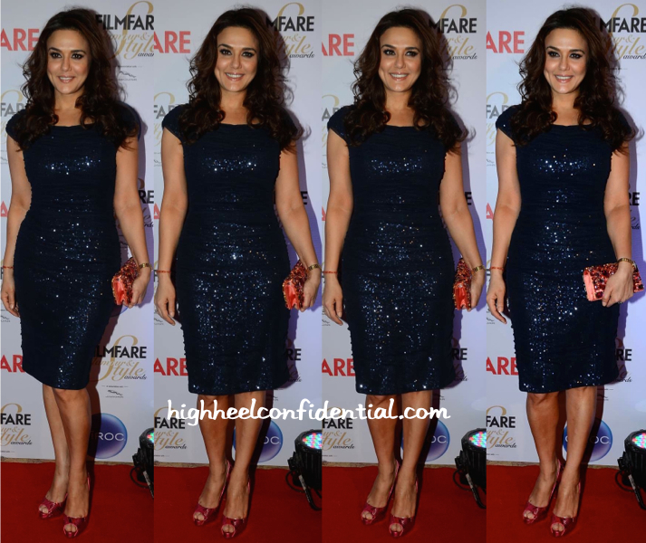 Preity Zinta At Filmfare Glamour And Style Awards 2015