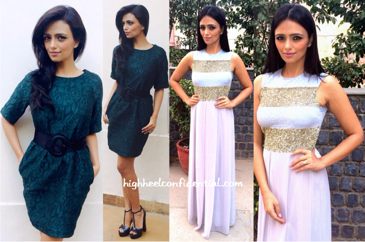 Roshni Chopra Hosts Live India World Cup Shows Wearing Dorothy Perkins And Huemn