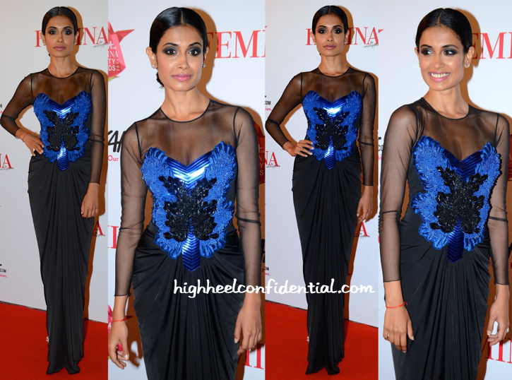 Sarah Jane Dias In Amit Aggarwal At Femina Beauty Awards 2015
