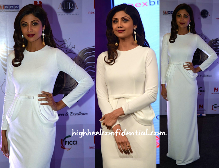 Shilpa Shetty In Amit GT At Brand Vision India Awards-2