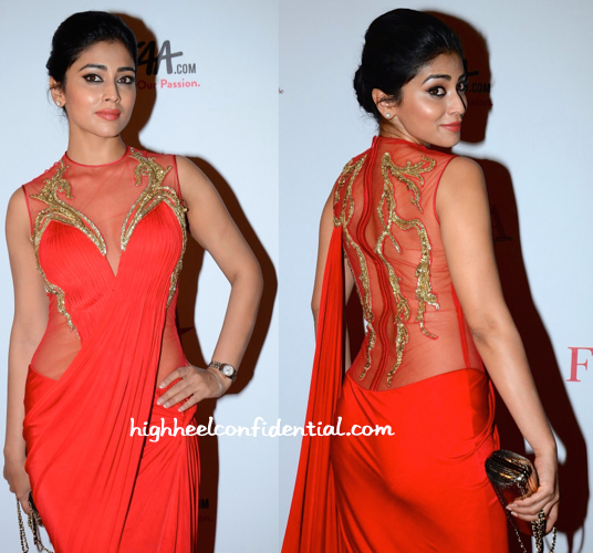 Shriya Saran In Gaurav Gupta At Femina Beauty Awards 2015-1