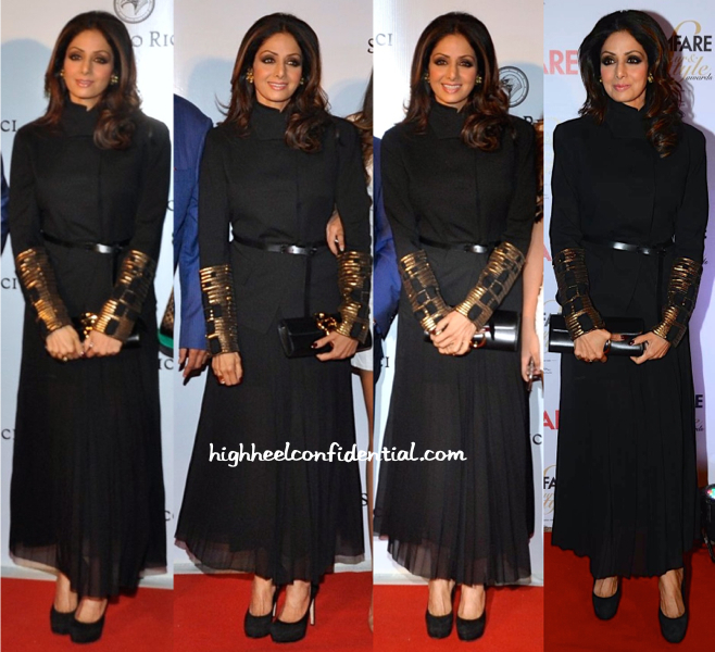 Sridevi At Stefano Ricci Launch And At Filmfare Glamour And Style Awards 2015-1