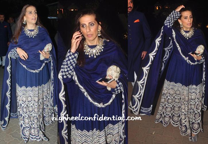 Sunita Kapoor In Anamika Khanna At Hinduja Bash-2