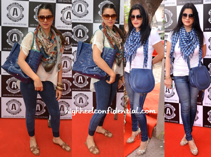 Tanya deol and maheep kapoor at ash haute couture launch