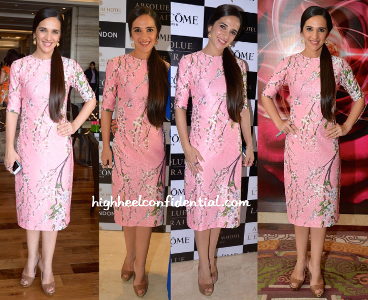Tara Sharma Saluja In Nishka Lulla And Eesha Zaveri At Lancome Event
