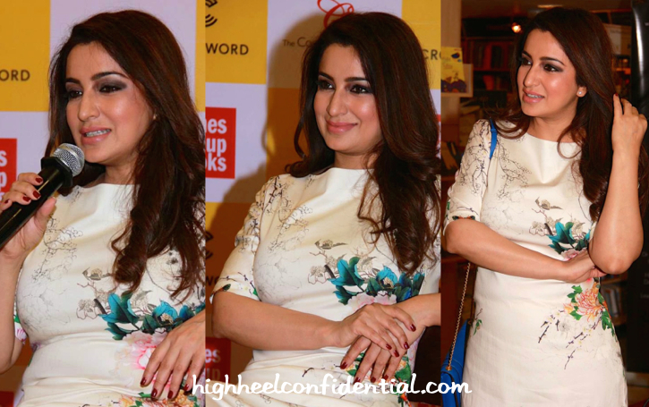 Tisca Chopra With A Bulgari Bag At A Book Launch-1