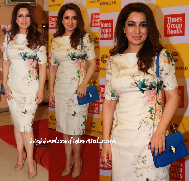 Tisca Chopra With A Bulgari Bag At A Book Launch