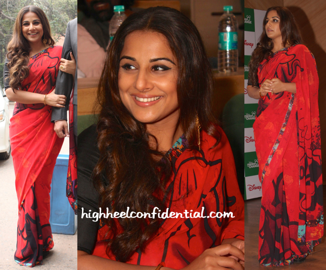 Vidya Balan Wears A Disney X Satya Paul Sari To Disney Friends For Change Awards Event-2