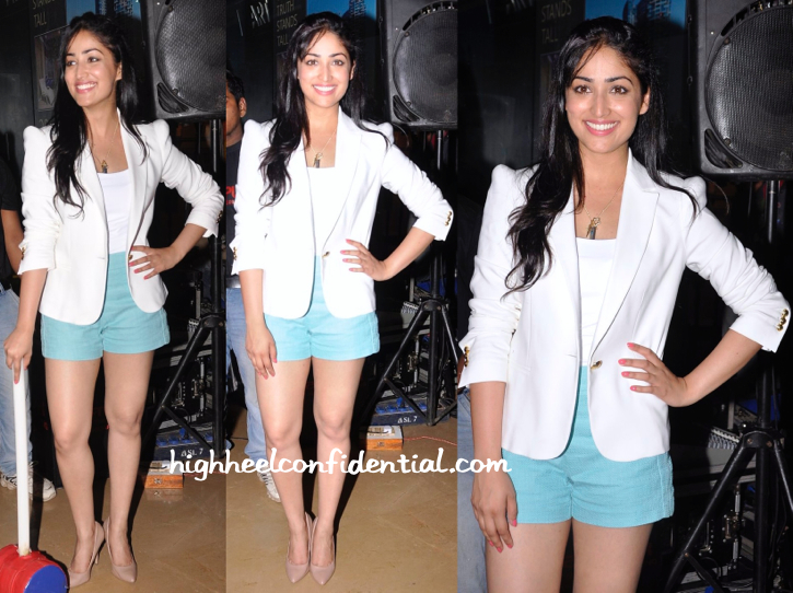 Yami Gautam In Zara And Forever 21 At Badlapur Promotions