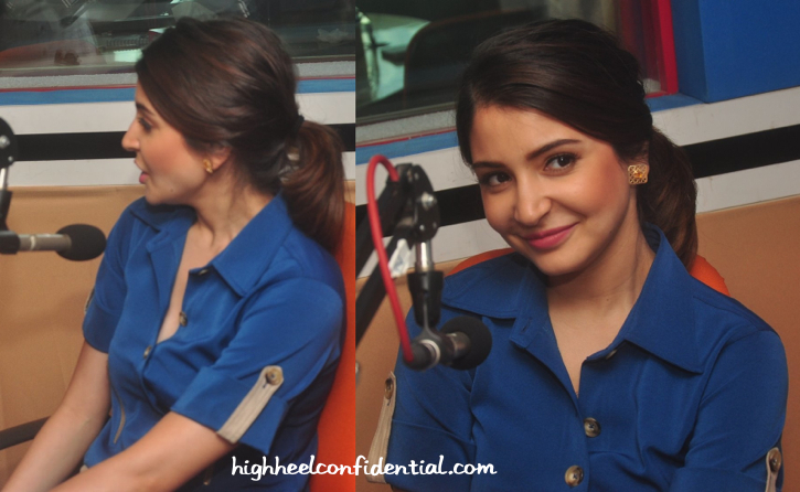 anushka sharma-red fm-nh10 promotion-poonam gupta jumpsuit-2