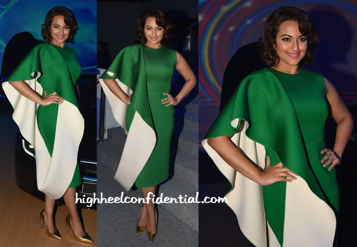 sonakshi sinha in gauri and nainika at BMW i8 launch-2