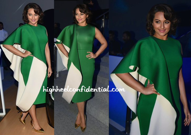sonakshi sinha in gauri and nainika at BMW i8 launch