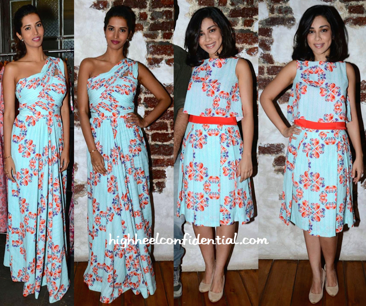 Amrita Puri And Manasvi Mamgai In Nisha Sainani At The Designer's Collection Preview-1