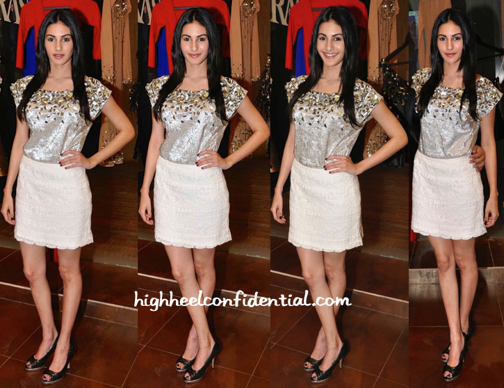 Amyra Dastur In Harsh Harsh At The Designer's Spring 15 Collection Launch