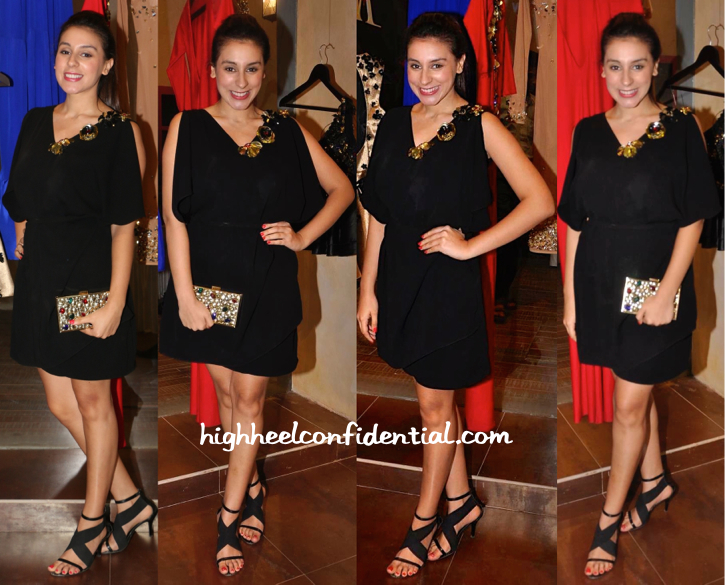 Anindita Nayar In Harsh Harsh At The Designer's Spring 15 Collection Launch