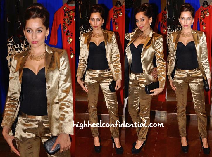 Anusha Dandekar In Harsh Harsh At The Designer's Spring 15 Collection Launch