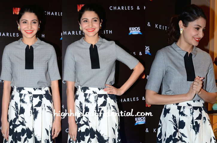 Anushka Sharma In Zara At Charles & Keith Spring 15 Collection Launch-2