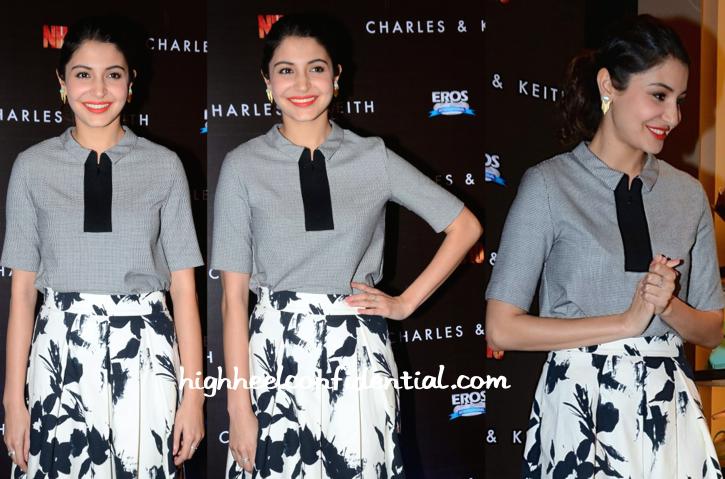 Anushka Sharma In Zara At Charles & Keith Spring 15 Collection Launch-2