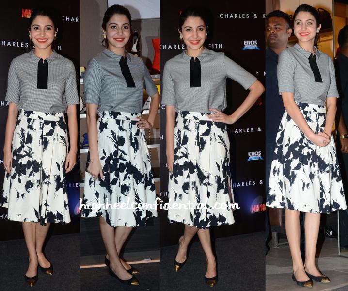 Anushka Sharma In Zara At Charles & Keith Spring 15 Collection Launch