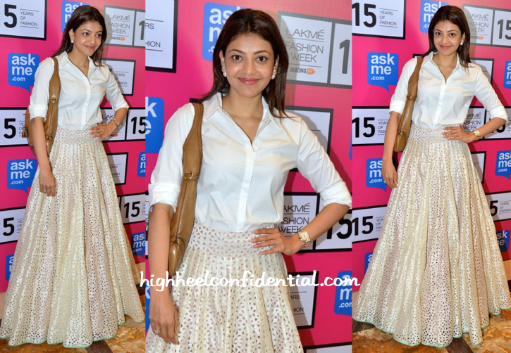 Kajal Aggarwal In SVA By Sonam And Paras Modi At Lakme Fashion Week 2015-1