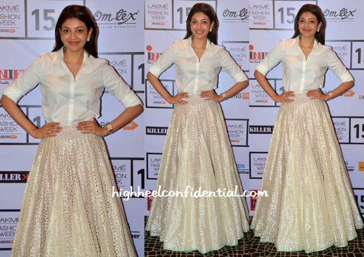 Kajal Aggarwal In SVA By Sonam And Paras Modi At Lakme Fashion Week 2015-2