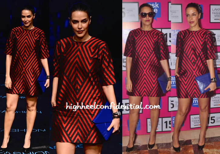 Neha Dhupia At Lakme Fashion Week 2015