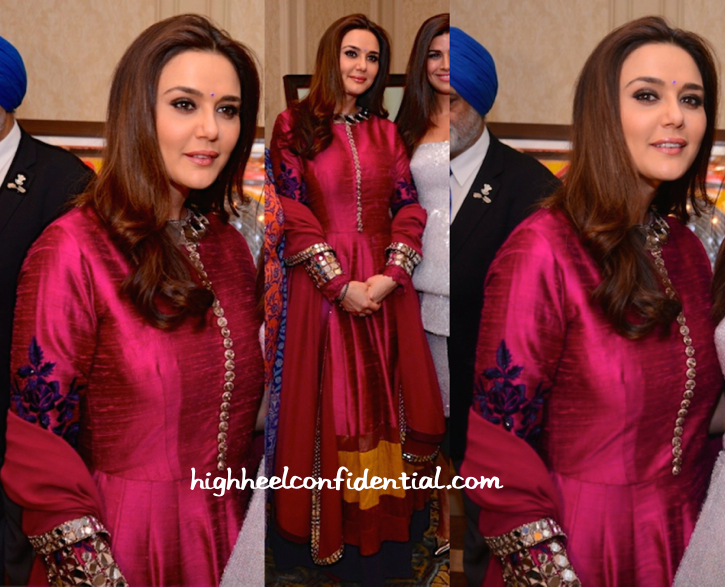 Preity Zinta In Manish Malhotra At Cequin Charity Event In Delhi