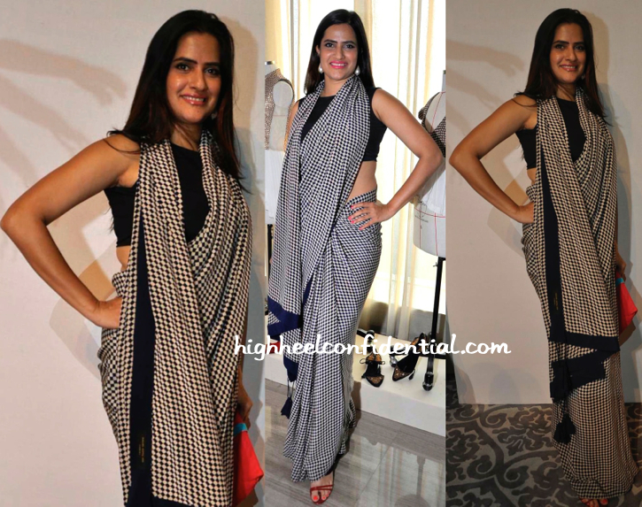 Sona Mohapatra Wears Kallol Datta To Anand Kabra's Presentation, LFW Resort 2015