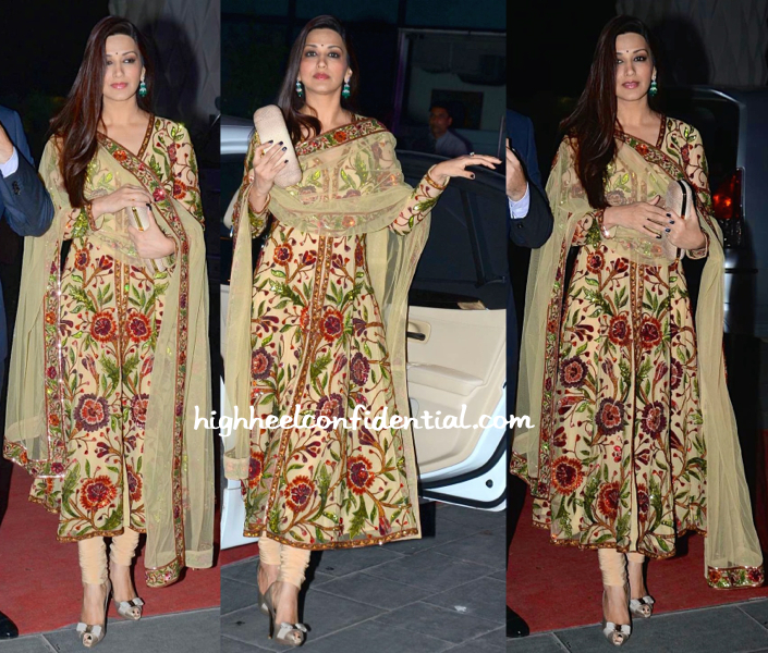 Sonali Bendre At Tulsi Kumar-Hitesh Ralhan Wedding Reception