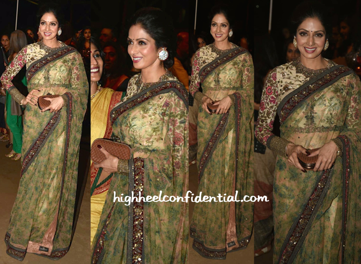 Sridevi In Sabyasachi At Sabyasachi Resort 2015 Presentation