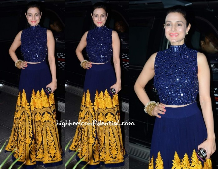 ameesha-patel-manish-malhotra-tulsi-kumar-wedding-reception