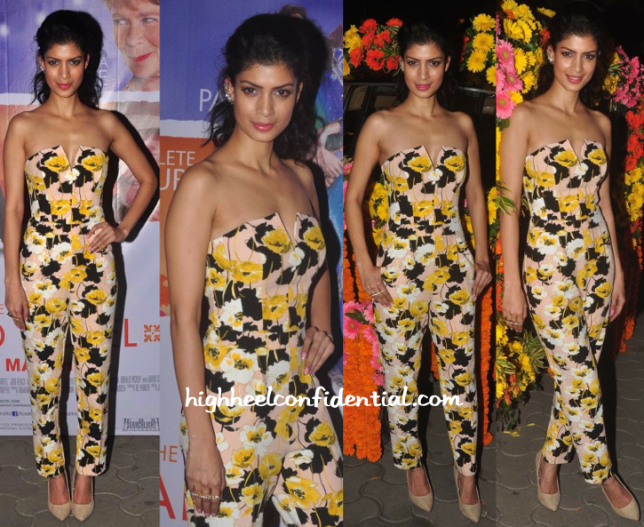 tina desae in miss selfridge at second best exotic marogold hotel screening