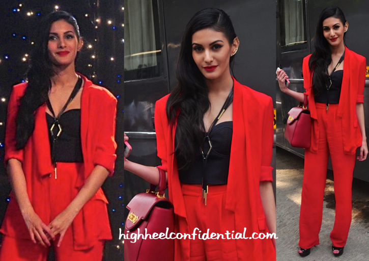 Amyra Dastur In Kavi Kavi And Koëcsh At 'Mr. X' Promotions-1