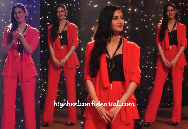 Amyra Dastur In Kavi Kavi And Koëcsh At 'Mr. X' Promotions-2