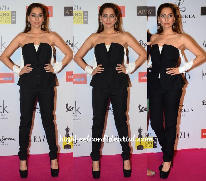 Anusha Dandekar In DRVV At Grazia Young Fashion Awards 2015-1