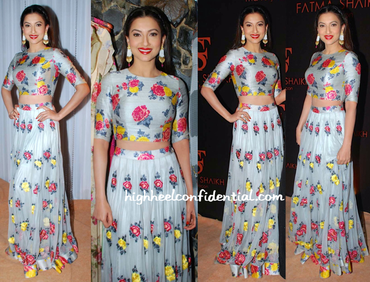 Gauahar Khan In Fatima Shaikh At The Designer's Store Launch