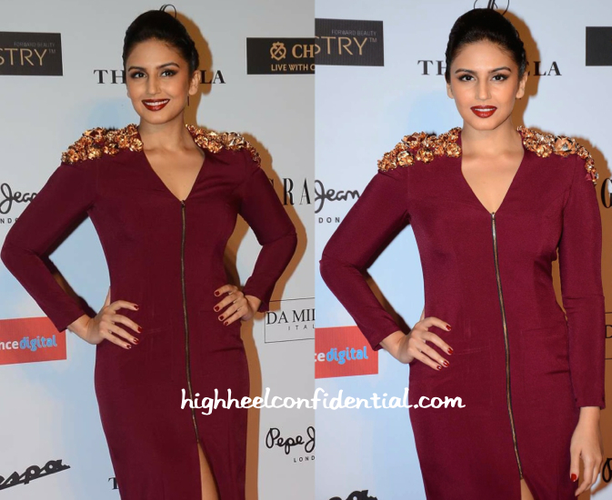 Huma Qureshi in Nikhil Thampi At Grazia Young Fashion Awards 2015-2
