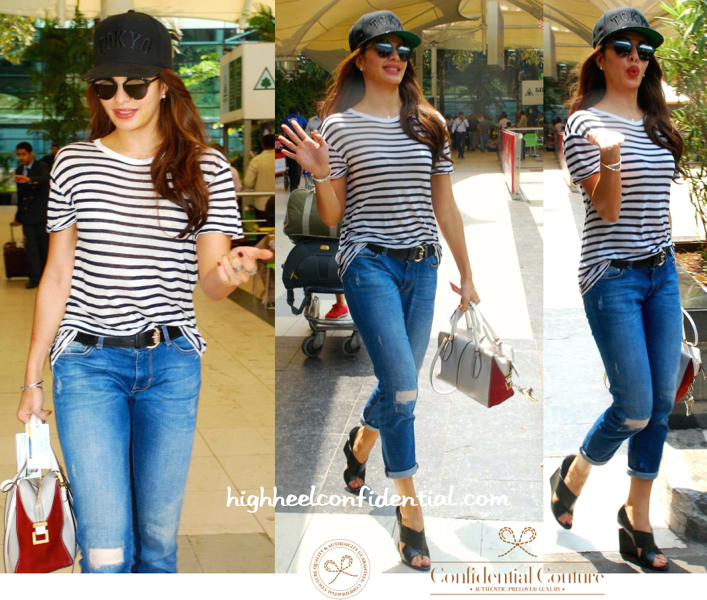Jacqueline Fernandez Photographed At The Airport (With Tod's In Tow)-2