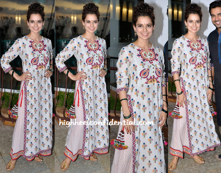 Kangana Ranaut Wears Vrisa To 'Tanu Weds Manu Returns' Promotions-2