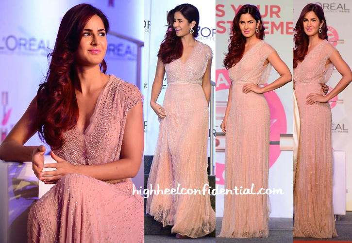 Katrina Kaif In Jenny Packham And Gehna At L'Oréal Paris Cannes Collection Launch-2
