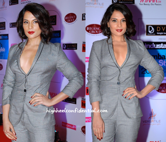 Richa Chadha In Dhruv Kapoor At HT Mumbai's Most Stylish 2015-2