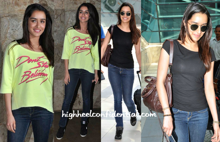 Shraddha Kapoor Photographed At The Airport And At 'Margarita With A Straw ' Screening