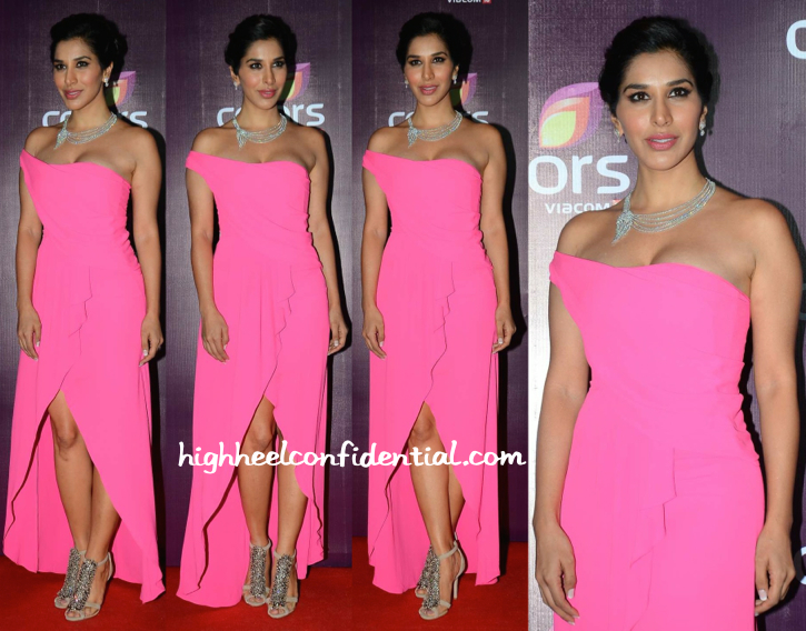 Sophie Choudry In BCBGMaxazria At Colors TV Annual Party