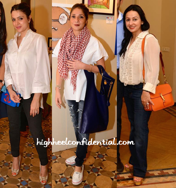 Tania Deol, Haseena Jethmalani And Penny Patel At An Art Show-2