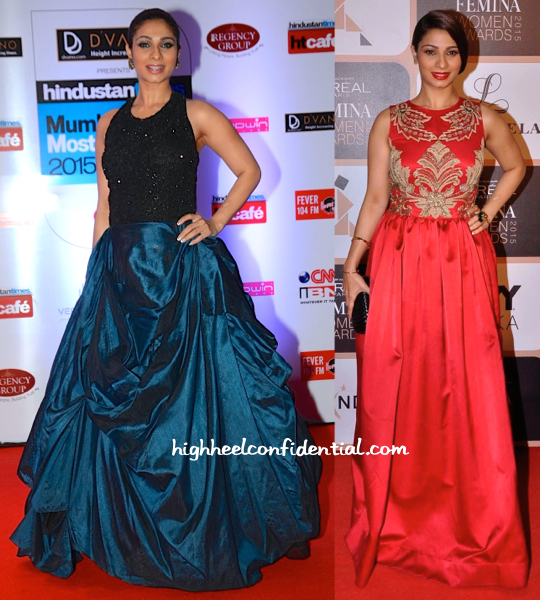 Tanishaa Mukerji In Ministry Of Design At HT Style Awards 15 And In Varun Bahl At Loreal Femina Women's Awards 15-1