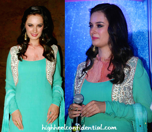 evylin sharma in divani couture and aquamarine at shqedarriyaan music launch-2