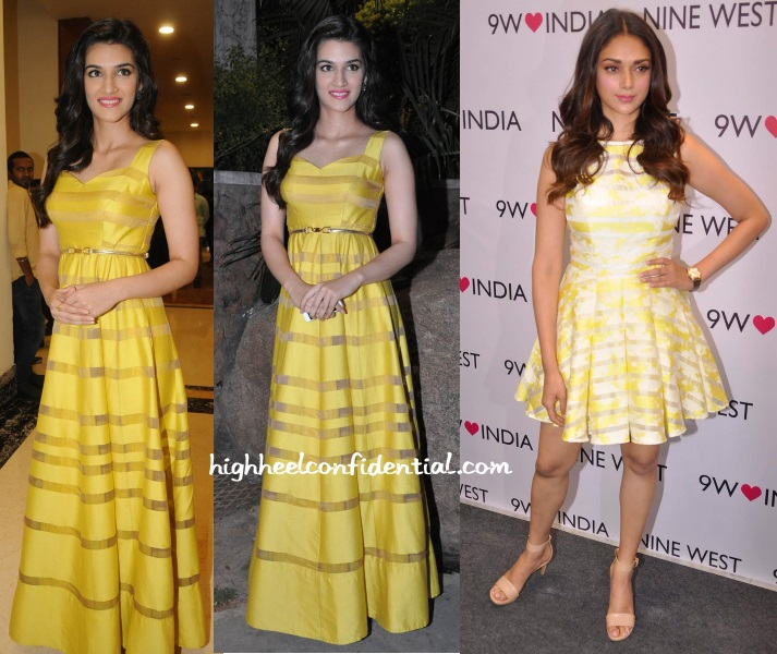 kriti-sanon-aditi-hydari-striped-dress