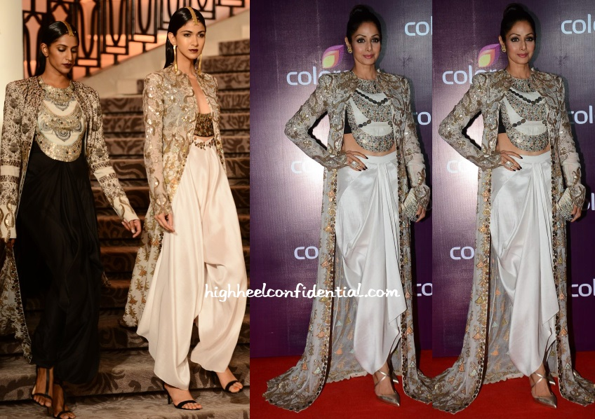 sridevi-anamika-khanna-colors-tv-bash-2015