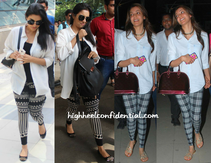 Asin And Kajal Agarwal Photographed At Mumbai Airport-2