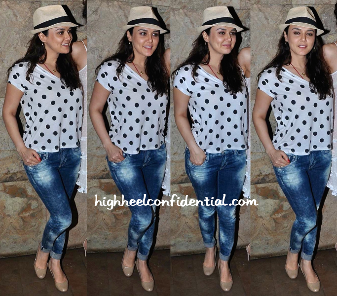 Preity Zinta At 'Tanu Weds Manu Returns' Screening
